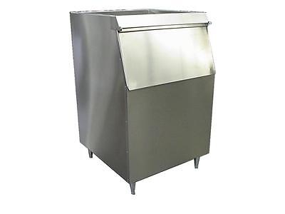 New ICE MACHINE BIN Slope Front (Lift-Up Door) 500LB wide Stainless Made in USA