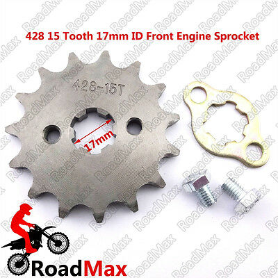 15T Tooth 428 Chain 17mm Shaft Front Sprocket Gear For 110 125cc Lifan YX Engine