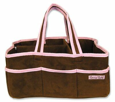 Trend Lab Storage Caddy, Ultrasuede Brown/Pink