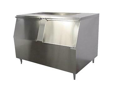 New ICE MACHINE BIN Slope Front (Lift-Up 2- Door) 1200LB Stainless Made in USA