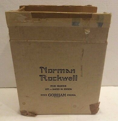 Norman Rockwell 1971 Limited In Edition Winter Spring Summer Fall 4 Plates Rare