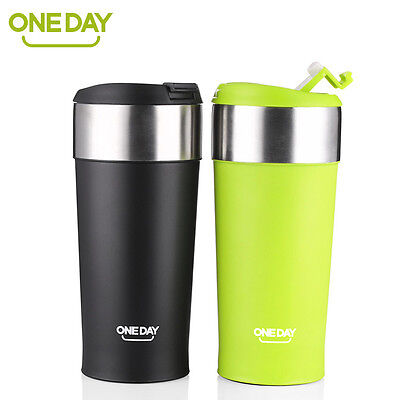ONEDAY Stainless Steel Coffee Mug Insulated Travel Mug Thermos Bottle Cup 13oz
