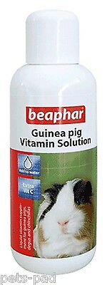 Beaphar Guinea Pig Vitamin Solution, Add to water, Extra Vitamin C. 100ml Bottle