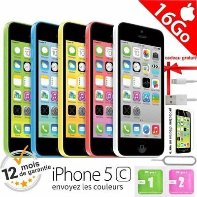 Apple iPhone 5c 16go unlocked DÉBLOQUÉ Téléphones Mobile - Various Color FR