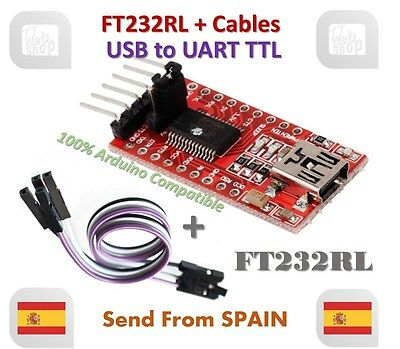 FTDI FT232RL USB to TTL Serial Converter Adapter Module 5V and 3.3V + Cable