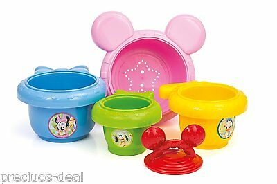 Mickey Mouse Baby Bath & Room Play Toys Stacking Cups Balance Shape Game