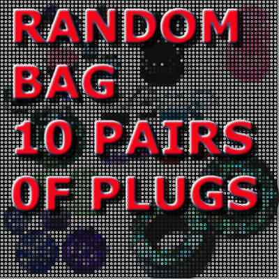 10 Random Pairs Of Ear Plugs/ear Gauges-Mixed Style-Choose Size-20 Pieces Total