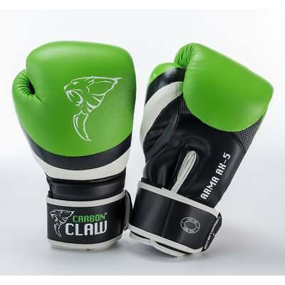 Carbon Claw Arma Muay Thai Boxing Gloves Sparring MMA Kickboxing Green Black