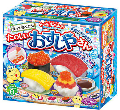 KRACIE POPIN COOKIN SUSHI KIT. DIY Japanese sushi candy.Poppin. Happy Kitchen