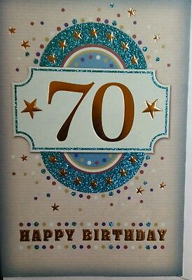Birthday Card For 70th Years Old Men Women Different Design