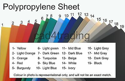 A4 Colour Polypropylene Plastic Sheet 0.8/75mm Binding Art Craft & Model Making