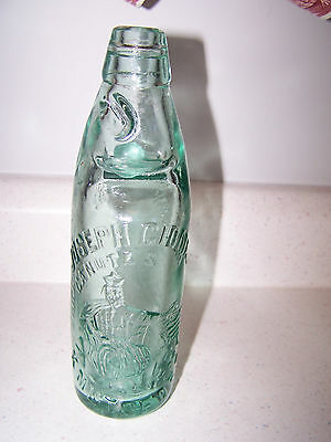 Embossed Joseph Gioman Knutsford Codd Stopper With Glass Marble Bottle