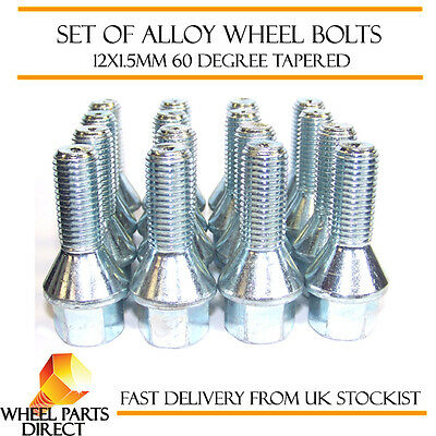 Alloy Wheel Bolts (16) 12x1.5 Nuts Tapered for Dacia Dokker 13-16