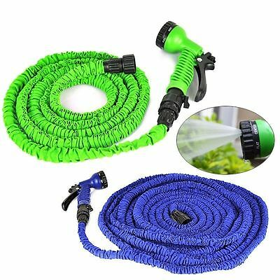 Expandable Flexible Garden Water Magic Hose with Spray Nozzle 50 75 100 FT