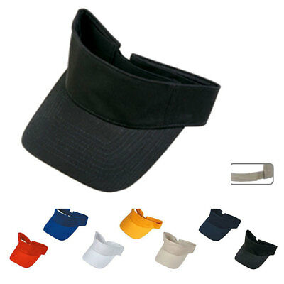 1 Dozen Storm Blank Plain Classic Cotton Visor Golf Tennis Sun Wholesale Bulk