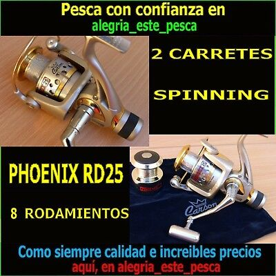 2 Carretes Pesca Carson Phoenix Rd25 Especial Spinning
