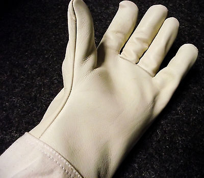 Bee keeper gloves - Cowhide leather strong soft, extra long cuff with elastic