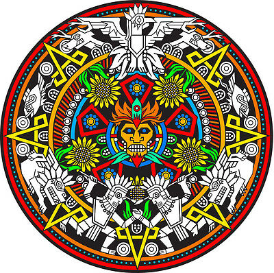 Mayan Mandala - Large 20x20 Inch Fuzzy Velvet Coloring Poster