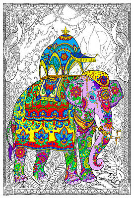 32½ x 22 Inches Enchanted Lake Giant Coloring Poster