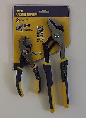 "Irwin New Vise-Grip 2pc Pliers Set 6""/150mm Slip Joint & 10""/250mm Groove Joint"