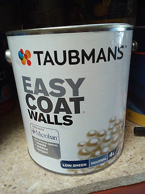 Taubmans Paint Microban 4L Low Sheen Interior-Tinted Wall Black  Theater Room