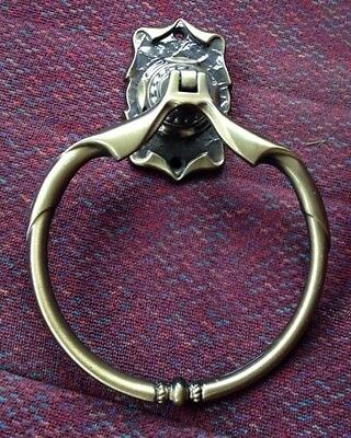 Amerock Carriage House Towel Ring Vintage Antique Brass Scroll 1972