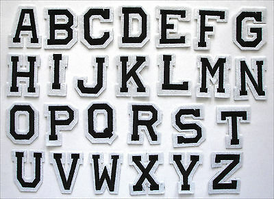 """Embroidered Iron on/Adhesive Stick patch Alphabet Letters Your Choice 2"""" AP025F"""