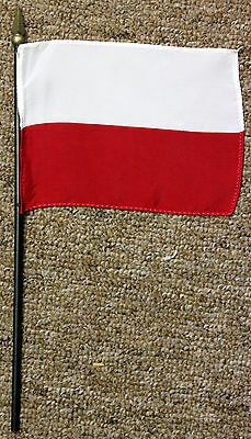 POLAND desk flag with spear point - Polish