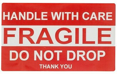 """20 Labels 2"""" x 3"""" Peel & Stick Handle With Care / Fragile / Do Not Drop Stickers"""