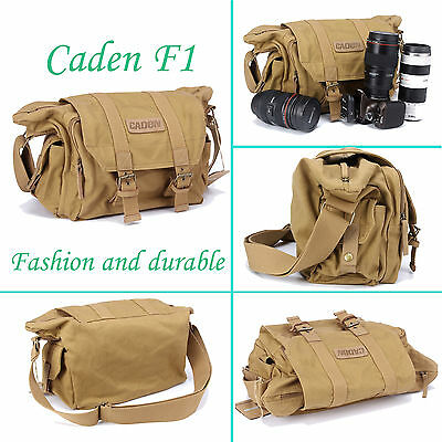 NEW For Canon Nikon Sony Large Canvas Camera Shoulder Messenger Case Bag