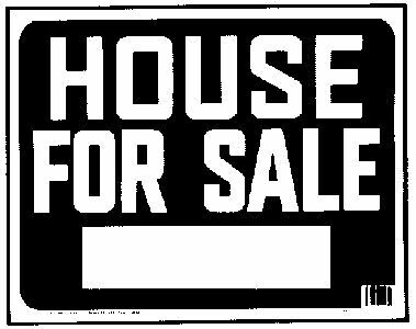 """Sign,15X19 """"house For Sale"""