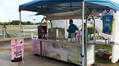 Coffee Cart / Soft Serve Cart + Large Water Tank
