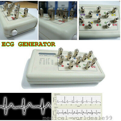 12-Lead ECG/EKG/Holter Strong Signal Simulator GENERATOR Terminals Video Sale