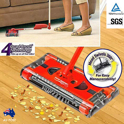 Swivel Walter Floor Sweeper Cordless Electric Quad Brush Bagless Cleaner Mop