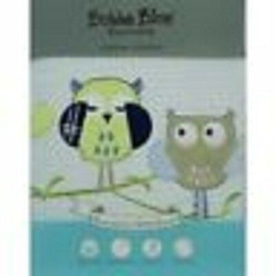 Brand New Bubba Blue Cot Baby Waffle Blanket Boy Baby Owl