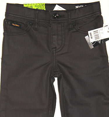VOLCOM - Boy's Stretch Tight Fit Denim Jeans, Size 6. NWT. RRP $59.99.
