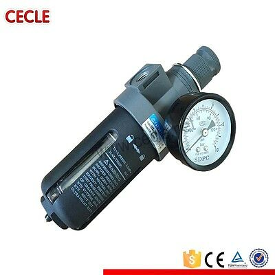 Cecle 1/4 Inch BRF2000 Air Compressor Filter Regulator Water Oil Separator Trap