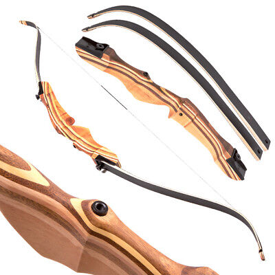 Apex Hunting Wooden Takedown Recurve Bow - Traditional Target Archery