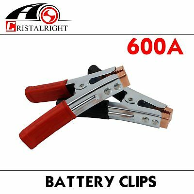 2pcs 600A Heavy Duty Crocodile Alligator Vehicle Boat Battery Test Clip Clamp