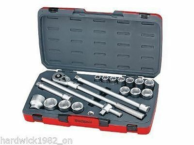 Teng Last One 18 Piece 3/4 Drive Socket Ratchet Extension Tool Set In Case