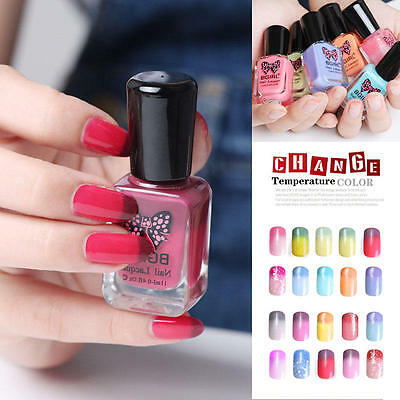New Temperature Chameleon Thermal Changing Color Water-Base Peel Off Nail Polish