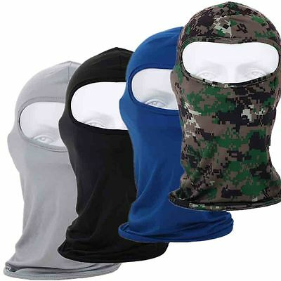 Black Camo Light-weight Breathable Full Face Mask Cycling Airsoft Paintball