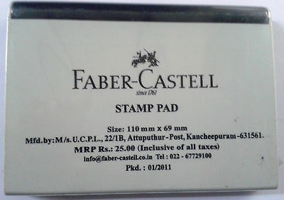 Faber-Castell Stamp Pad :: Black Ink:: Rubber Stamp Ink Pad ::110mmx69mm