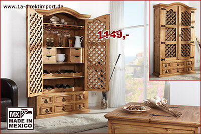 exklusiver bar schrank barschrank mexico pinie massiv. Black Bedroom Furniture Sets. Home Design Ideas