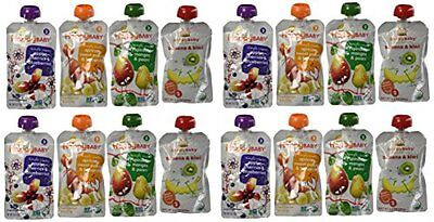 Happy Baby Organic Baby Food Stage 2 Simple Combos Variety Pack, 3.5 oz Pouches,