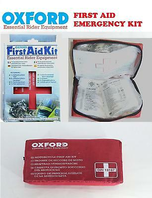 Oxford Emergency First Aid Underseat Medical Kit For Motorcycle Scooter Cars Atv