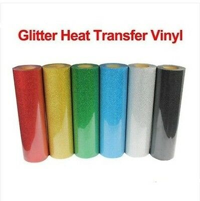 1m Glitter Heat Transfer Vinyl Film Heat Press Cutter Plotter