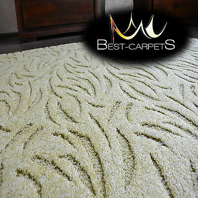 VERY THICK Runner exclusive Rugs IVANO green 30 SIZES modern carpeting