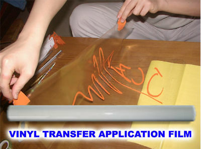 Transparent Sign Vinyl Transfer Application FILM