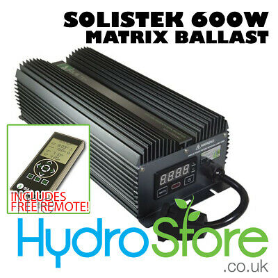 Solistek Matrix Remote Digital Ballast 600W Hydroponics